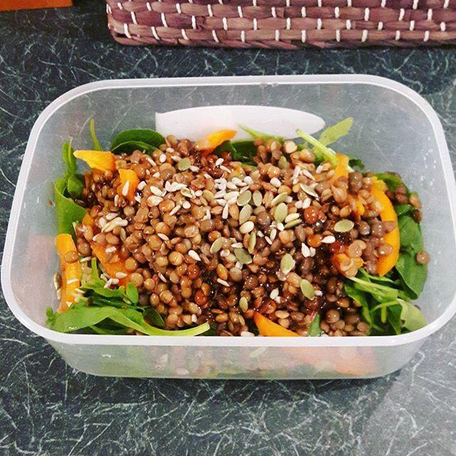 follicular phase diet - lentil salad pumpkin seeds
