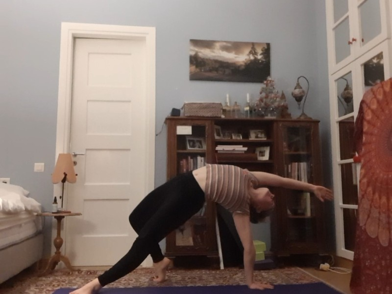 heart opening yoga - wild thing
