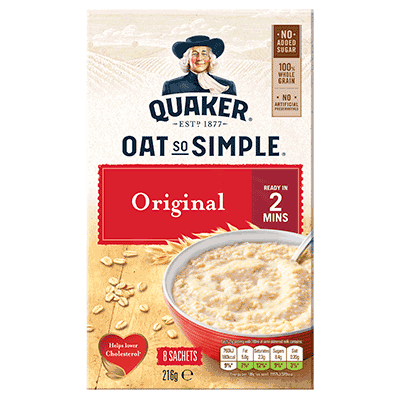 oats nutrition label 2
