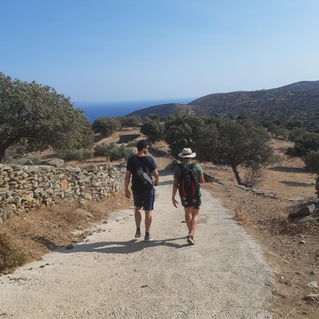 hiking kea island greece